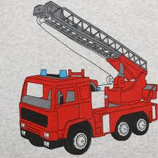 Summer Boys Short Sleeve Pajamas Kids Cotton Fire Truck Printing ...
