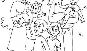 Free Coloring Pages Of Big Family Members Book