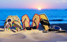 Beach Slippers 4K HD Desktop Wallpaper For Ultra TV O Dual