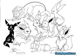 Pokemon Coloring Pages Eevee Go
