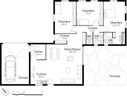 plan maison contemporaine plain pied 3 chambres plan maison plain pied avec 3 chambres et garage ooreka