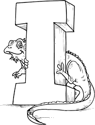 Animal Alphabet I Coloring Pages