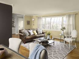 Stunning Brown And Grey Living Room Beige Color Wall Accent