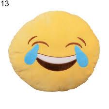 Emoji Pillow Soft Yellow Round Cushion Emotion Stuffed Plush Toy