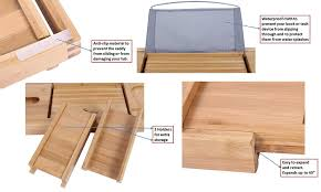 Bamboo Bathtub Caddy With Reading Rack by Amazon Com Purvae Luxury Bathtub Caddy With Candle U0026 Book Holder