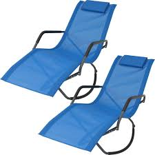 Sunnydaze Decor Blue Folding Rocker Sling Outdoor Lounge Chair With Pillow  (Set Of 2) Folding Patio Lounge Chair Brickandwillowco Portable 2in1 Folding Chair Recliner Sleeping Loung Outdoor Sun Loungers Beach Lounge Chairs Adjustable Garden Deck Psychedelic Metal Plastic Cane Recling Foldable Zero Gravity With Pillow Black Sunnydaze Rocking Chaise Headrest Outdoor W Shade Canopy Cup Holder Camping Fishing Arm Rest Amazoncom Set Of 2 Patio