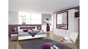 schlafzimmer set burano in weiß und brombeer 4 teilig