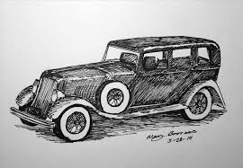 Drawing Corvette Vintage Cars Drawings Brackensdepictionscom Art Classic Car Cliparts Free Download Clip
