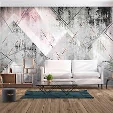 details zu fototapete beton stein rosa tapete modern wandbild geometrisch wohnzimmer 5m