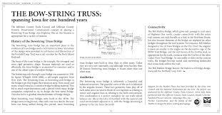 104 Bowstring Truss Design Http Www Jeffersoncountytrails Org Docs Bridge Plaque Pdf