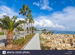 100 Molos Promenade Alley At Park In Center Of Limassol City Cyprus