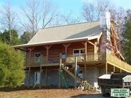 Stone Mountain Appalachian Log Timber Homes Standard Model Rustic Style