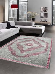 teppiche moderner kurzflor teppich einfarbig in pink rosa