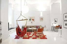 canap hamac design interieur meubles salle manger idées aménagement tapis