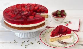 erfrischende erdbeer torte