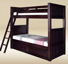 dillon extra long twin over twin wood bunk bed