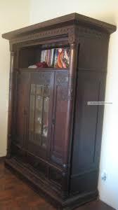 antik bücher wohnzimmerschrank gründerzeit um 1900