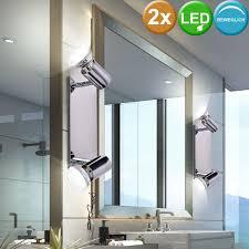 led design wand spot le spiegel leuchte silber