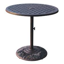 Darlee Patio Furniture Nassau by Shop Darlee Series 30 30 In W X 30 In L Round Iron Dining Table At
