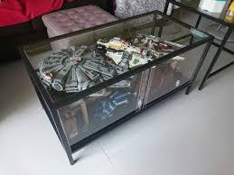 dyi display coffee table from ikea lego display lego
