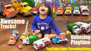 Toy Channel: Disney Cars And Toy Trucks. Fire Engine, Garbage Truck ...