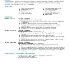 Caregiver Resume Sample Download With Samples Free For Elderly Example Care Plan Template Image