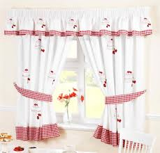 Ebay Curtains With Pelmets Ready Made by Strawberry Sponge Cake White U0026 Red Kitchen Curtains Ebay