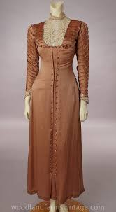 Cinnamon Colored Silk DressNot Sure Of The Date Looks About 1915