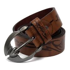 stylish mens leather belts casual dress trouser jeans waistband