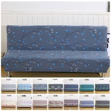 Varmhus Pattern Plush Folding Armless Sofa Cover Futon Furniture Seater  Protect Couch Slipcovers Washable