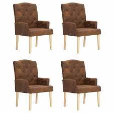 chairs esszimmerstuhl armstuhl stoff lederoptik orange braun kupfer ocker sessel retro home furniture diy itkart org