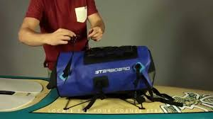 Sup Board Deck Bag by How To Attach Your Starboard Sup Dry Bag Youtube