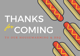 Housewarming Thank You Card Wording Examples
