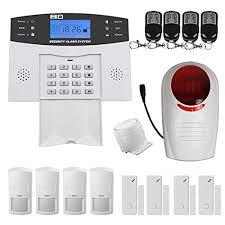 kit alarme de maison sans fil gsm carte sim avec sirène extérieure