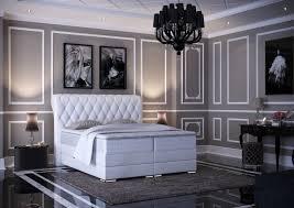 baron luxus boxspringbett mit bettkasten weiß 100 140 160 180 200