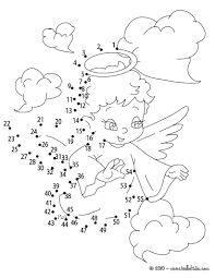 Flying Cupid Love Angel Dot Hard Free Kids Games Connect The Dots Printable To Pages Worksheets