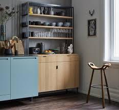 blau holz und grau in der küche bild 16 schöner wohnen