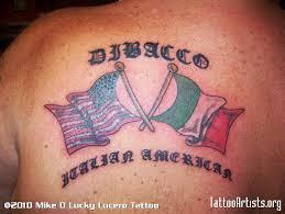 American N Italian Flag Tattoo Designs On Back Photo