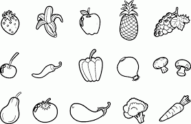 Fruits Coloring Pages Pdf Fruit Vegetables With And Online