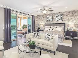 Stone Wall Design And Glass Door Also Black Wood Floor For Bedroom Ideas With Master