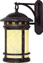1 light exterior lighting wall mount in desert finish