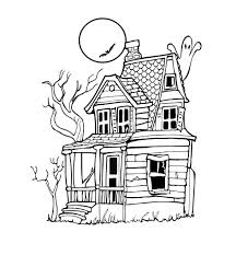 Free Printable Haunted House Coloring Pages For Kids At Printables