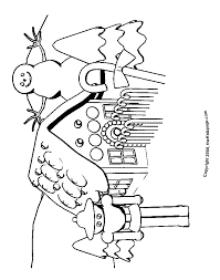 Holidays Gingerbread House Free Coloring Pages For Kids