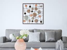 kreise metall wandbild gerahmt dekor wandbilder haus deko