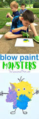 Spookley The Square Pumpkin Activities For Kindergarten by Easy Art Activity For Kids Blow Paint Monsters Easy Art Art