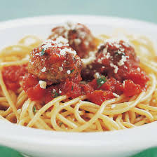 Spaghetti with Sausage Meatballs