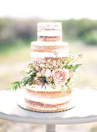 Bare Wedding Cake Sponge Rustic