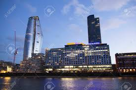 100 Sea Containers House Address LONDON UK MAY 20 2017 London Cityscape Across The River