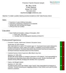 Resume For Preschool Teacher Luxury Pre K Best