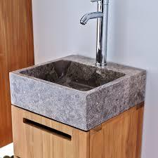 waschtisch aus massives teakholz mit marmor waschbecken 40 line